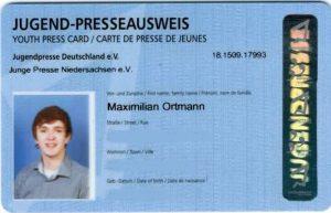 Presseausweis Max Ortmann JPG